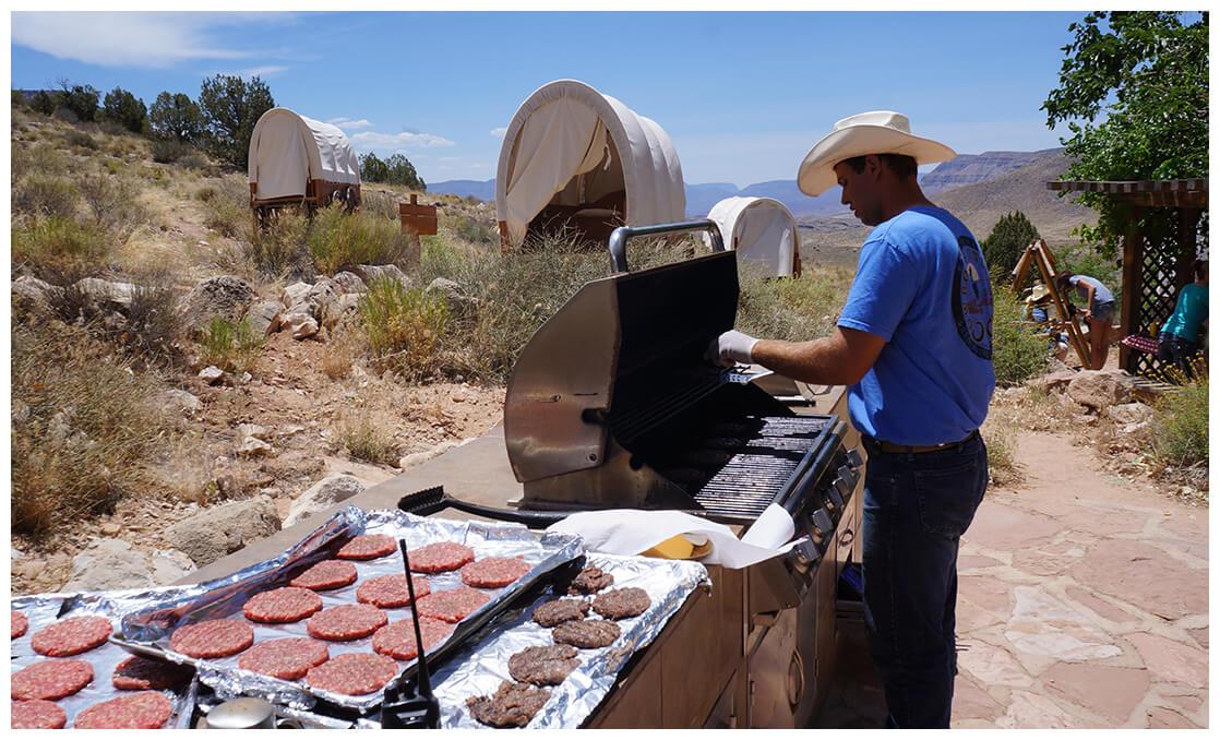 Déjeuner au Grand Canyon