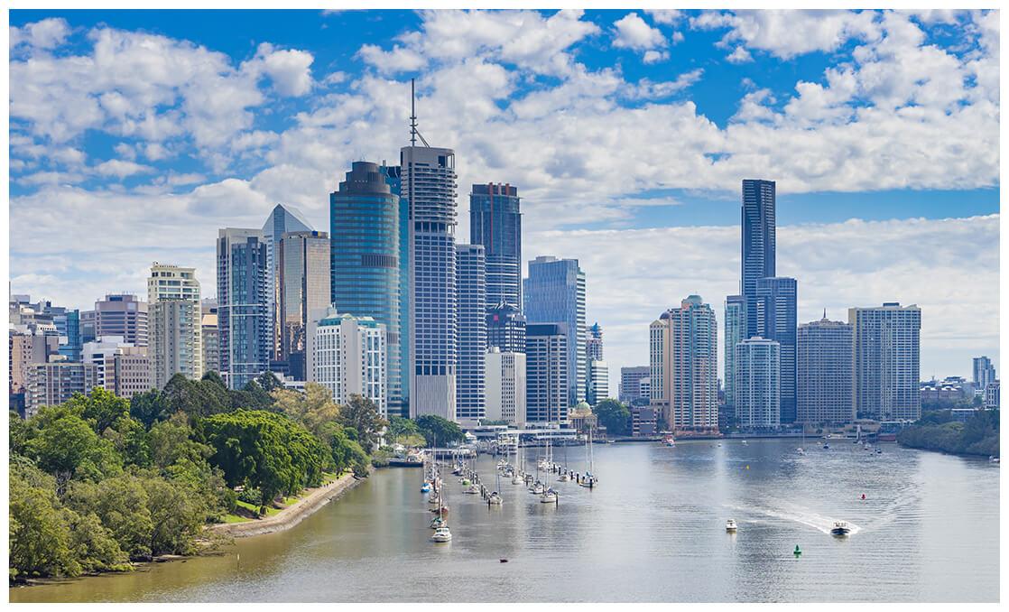 Vue sur ville australienne