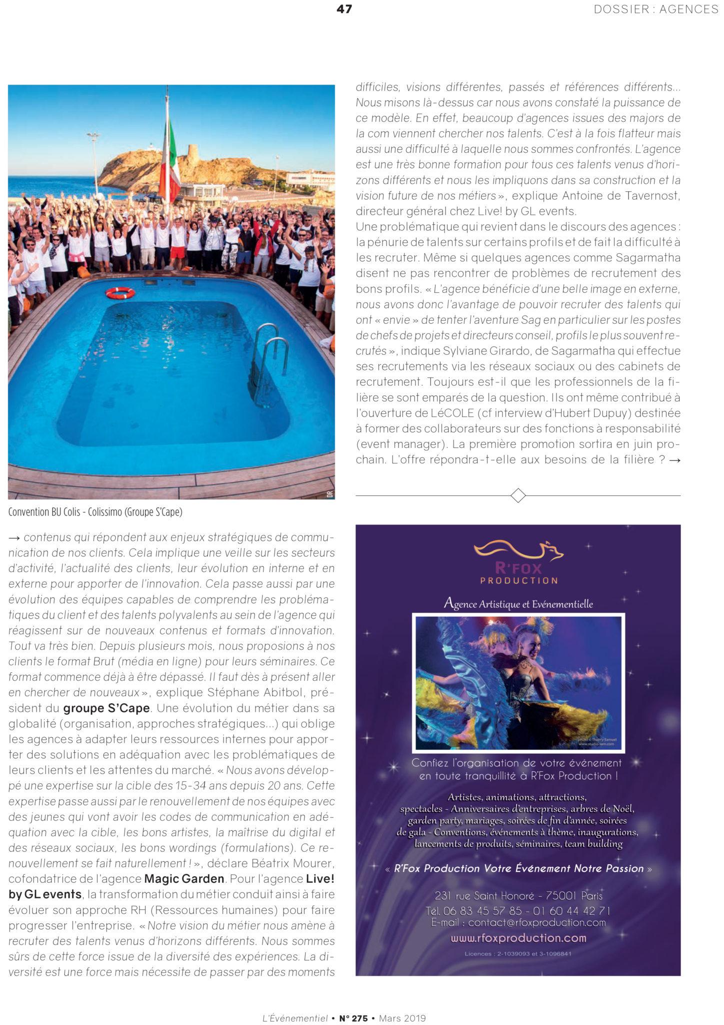L'évènementiel, le magazine de la communication par l'évènement