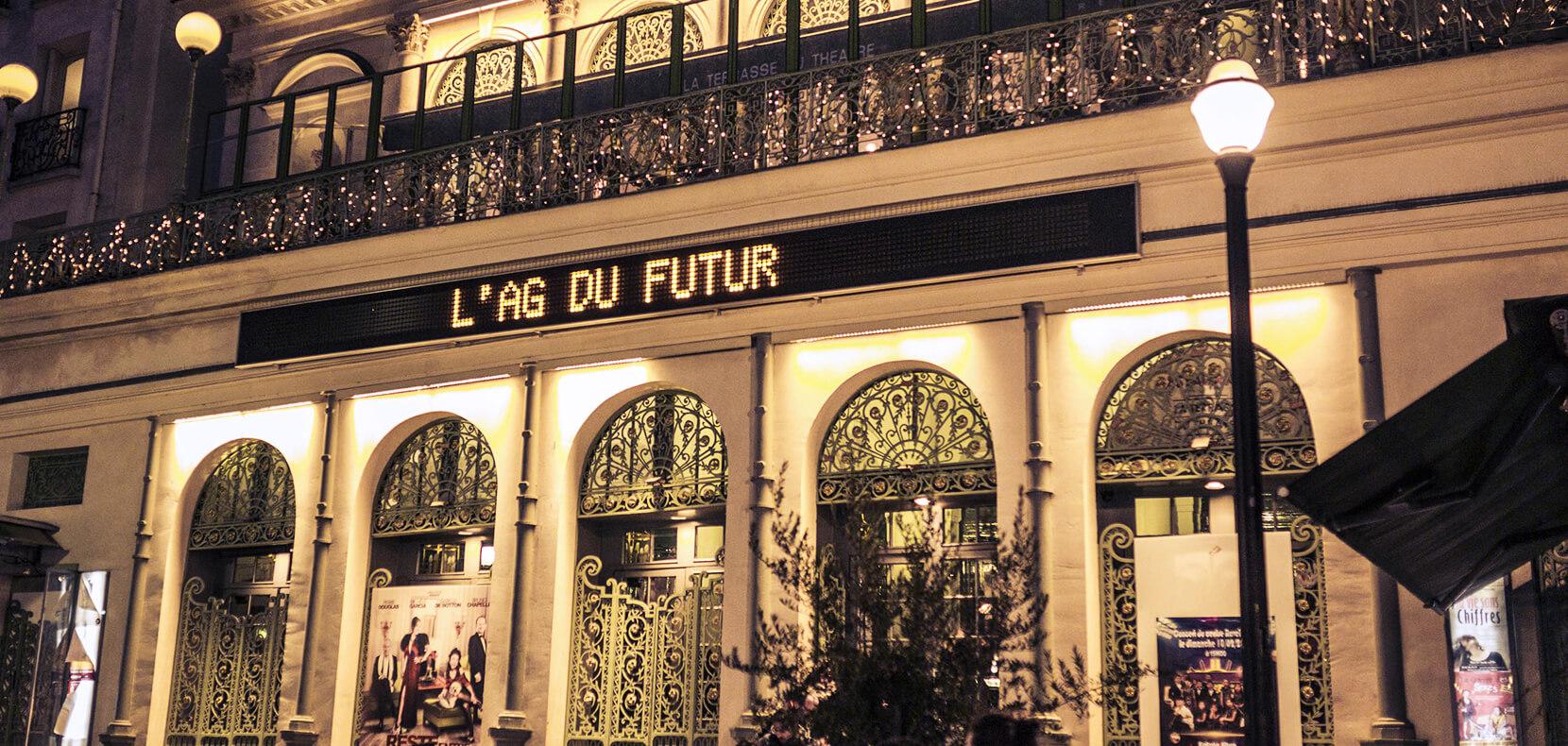 Théâtre du Gynmase pour AG du Futur
