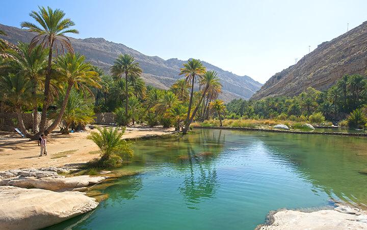 Les wadis à Oman