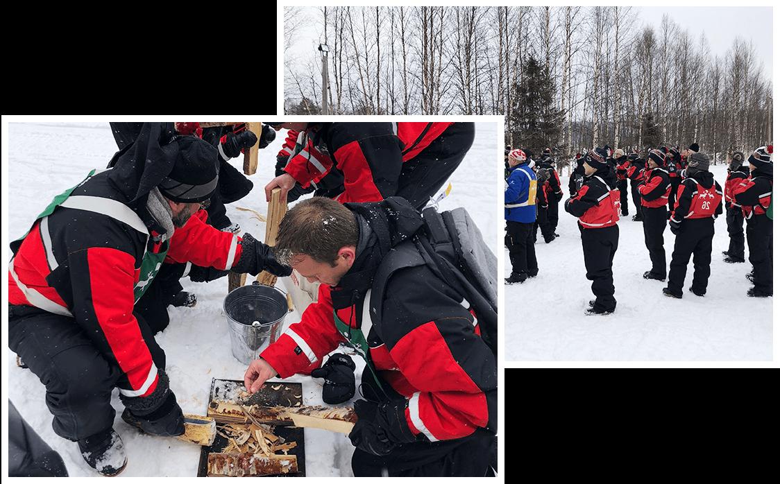 Activité incentive en Laponie
