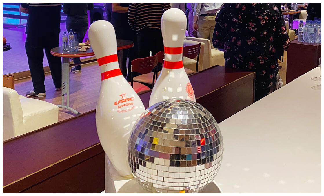 Soirée bowling en entreprise lors de la soirée d'anniversaire Engie