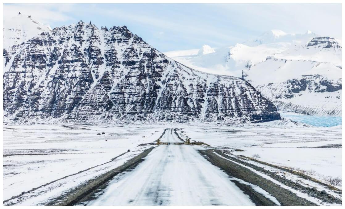Paysage désertique en Islande