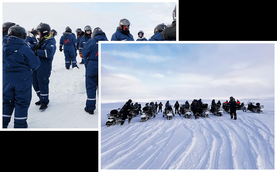 Activité motoneige en Islande