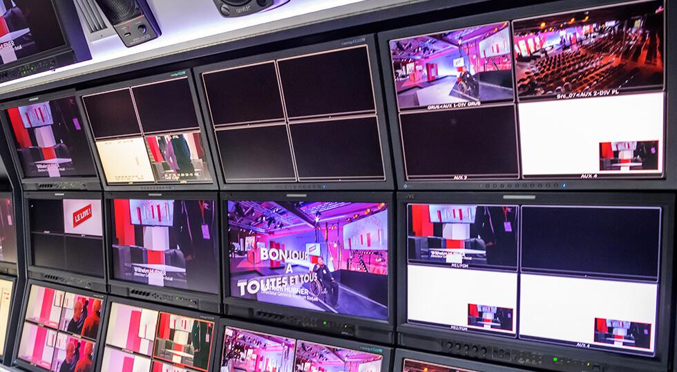 Ecran de retransmission Auchan Le Live